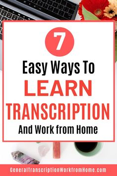 How to learn transcription and get started in general transcription work from home. Find out what it takes to become a professional transcriptionist and get general, non-medical transcription jobs from home without a degree. #transcription #transcriptiontraining #transcriptionwork #workfromhome Typing Jobs From Home, Online Typing Jobs, Online Side Jobs, Best Online Jobs, Transcription Training, Transcription Jobs For Beginners, Transcription Jobs From Home, Start A Business From Home, Work From Home Moms