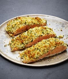 Mustard and Breadcrumb Crusted Salmon with Herbs