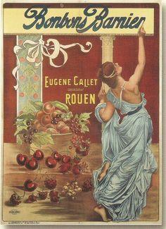 Affiches anciennes divers bonbons art nouveau greek roman scene fruits