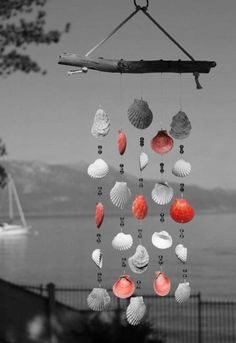 Splash Photography, Color Photography, Color Splash, Color Pop, Wind Chimes, Orange Color, Rainbow, Black And White, Outdoor Decor