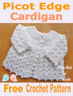 Free baby crochet pattern for picot edge coat, soooooo pretty when made.Free Baby Crochet Pattern-Picot Edge Cardigan UK - A pretty baby cardigan written in UK format, made in a shell design for a 14 inch .Fantastic info are offered on our web pages. Crochet Baby Cardigan Free Pattern, Crochet Baby Jacket, Crochet Baby Blanket Beginner, Crochet Baby Sweaters, Baby Sweater Patterns, Baby Girl Crochet, Crochet Baby Clothes, Crochet For Kids, Free Crochet
