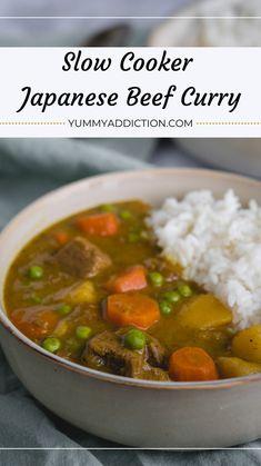 Rice Cooker Recipes, Ww Recipes, Pressure Cooker Recipes, Indian Food Recipes, Asian Recipes, Crockpot Recipes, Cooking Recipes, Food Japan, Beef Curry