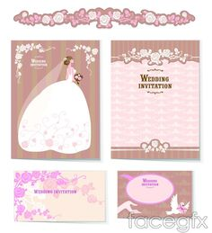 Wedding themes vector