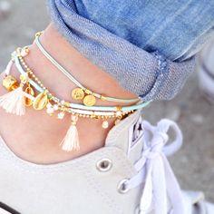 GelConnie Baroque Pearl Leather Cuff Bracelet Multi Strand Wrap Bracelets Magnetic Bohemian Bracelet for Women, Wife, Sister – Fine Jewelry & Collectibles Cute Jewelry, Boho Jewelry, Handmade Jewelry, Anklet Designs, Ankle Bracelets, Ankle Straps, Anklets, Fashion Details, Handbag Accessories