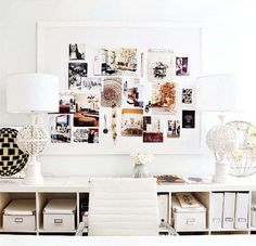 Perfect decorative yet functional wall space in study or home office…or walk in CLOSET/lady cave!