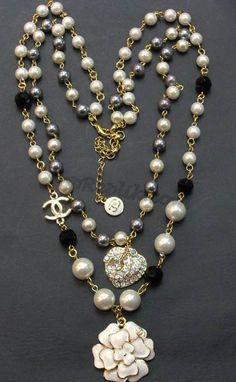 Chanel Diamante Blanco Réplica collar de perlas - Haga click en la imagen para cerrar