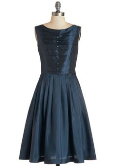 Your Biggest Fanfare Dress. You thought your enthusiasm for this deep-blue dress couldnt be matched, but that was before you waltzed into the ballroom and saw a crowd of admiring glances! #blue #modcloth