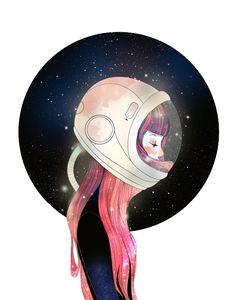 Astronauta on in 2019 graphic design art, space illustration Space Illustration, Illustrations, Astronaut Illustration, Sketch Manga, Space Girl, Art Anime, Graphic Design Art, Drawing People, Art Girl