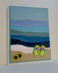 Beach Themed All Occasion Card Birthday Card by MainImageCards