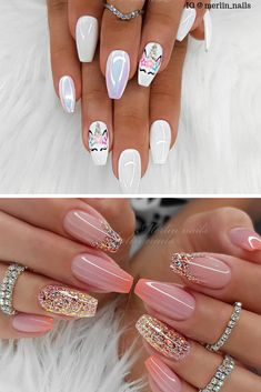 Summer Acrylic Nails 2019 Want to brighten up your look for the summer? Then you are in the right place! We have found Summer Acrylic Nails ideas that you will want to try. Nail art is a great way to wear the seasons latest colors and prints, and beautifu Cute Summer Nails, Cute Nails, Pretty Nails, Summer Holiday Nails, Nail Summer, Glitter Manicure, Shellac Nails, Summer Acrylic Nails, Cute Acrylic Nails