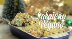 Dando continuidade ao nosso especial de Natal, vou ensinar este salpicão vegano, que foi uma receita bastante pedidapor aqui. Além de delicioso e fácil de fazer, é uma ótima opção de acompanhamento para a ceia! Yummy Veggie, Going Vegan, Potato Salad, Veggies, Potatoes, Chicken, Ethnic Recipes, Food, Carne