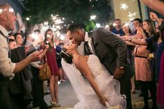 Make sure to enjoy your moment. Don't forget to pause for a romantic kiss during your wedding sendoff! #weddingsendoff #sparklerexit #weddingsparklers #weddingexitideas #sparklers #brideandgroom #weddingpictures #weddingexitproducts #weddingsparklersendoff