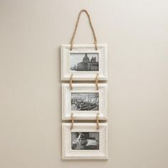 One of my favorite discoveries at WorldMarket.com: Whitewash Dylan Frames, Set of 3