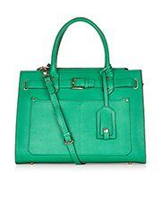 Penelope Belted Work Tote Bag