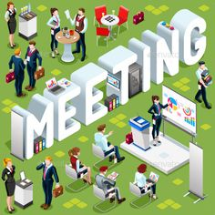 Isometric People Meeting 3D Icon Set Vector Illustration - People Characters Download here : https://graphicriver.net/item/isometric-people-meeting-3d-icon-set-vector-illustration/19478353?s_rank=12&ref=Al-fatih