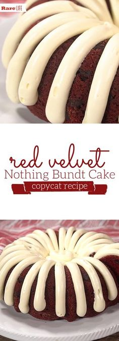copycat recipes If youre lucky enough to have a Nothing Bundt Cakes location in your hometown, youre probably familiar with how delicious their cakes are. Lucky for you, weve found a copycat recipe that looks just as good. Köstliche Desserts, Delicious Desserts, Dessert Recipes, Copycat Recipes Desserts, Health Desserts, Plated Desserts, Food Cakes, Cupcake Cakes, Cupcakes