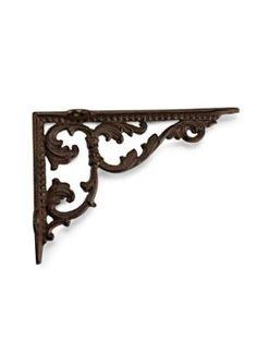 "Amazon.com : 7"" Metal-Cast Iron Small Scroll Antique-Style Wall Shelf Bracket Dark Brown : Plant Hooks & Hangers : Patio, Lawn & Garden"