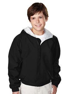 Youth 100% Toughlan Nylon Hooded Jacket. Tri mountain 3500 #Hoody #zipper #need