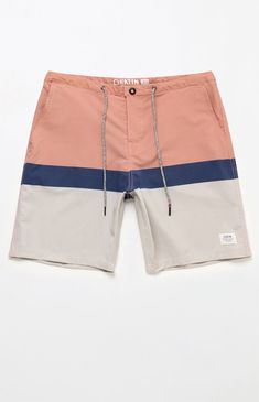 Cop a stylish pair of Katin boardshorts for your next beach trip. The Stanley 19 Boardshorts has front and back pockets, a drawcord waist with a button closure, and a laidback colorblock design. Monokini, Men's Swimsuits, Bikini, Designer Swimwear, Messy Hairstyles, Beach Trip, Swim Shorts, Man, Casual Shorts