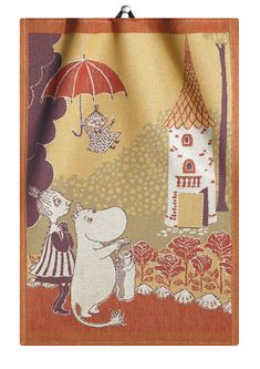 Ekelund Moomin Home Tea Towel There's never a dull moment in Moominvalley, especially if Moomintroll, The Mymble and Little My are involved. Extend Moomintroll's sense of adventure and fun into your home with the Ekelund Moomin Hom. Dish Towels, Tea Towels, Kids Book Series, Tove Jansson, Textile Company, Dining Table In Kitchen, Little My, Table Linens, Weaving