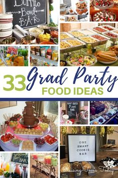 Graduation party planning season is here! And, when it comes to planning a great. Graduation party planning season is here! And, when it comes to planning a great grad party it's Outdoor Graduation Parties, Graduation Party Foods, Graduation Party Planning, College Graduation Parties, Graduation Celebration, Grad Parties, Graduation Balloons, Graduation Decorations, Teen Party Foods