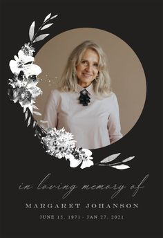 Smokey Flowers - Memorial Card #announcements #printable #diy #template #memorial #funeral Funeral Cards, Memorial Cards, Announcement, Create Yourself, Printable, Invitations, Memories, Templates, Flowers