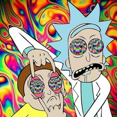 Rick and Morty // Trippy // Psychedelic // Drugs - Art ideas Image Psychedelic, Psychedelic Drugs, Trippy Pictures, Trippy Drawings, Acid Art, Trippy Painting, Stoner Art, Trippy Wallpaper, Graffiti Wallpaper