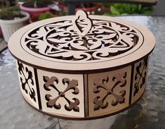 Wood Laser Ideas, Wooden Gifts, Laser Cutting, Decorative Boxes, Woodworking, Design, Home Decor, Wood Creations, Bottles