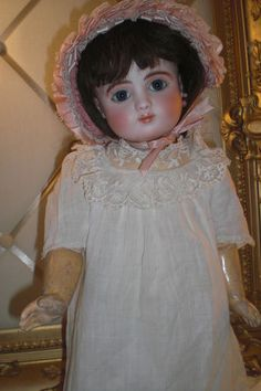 """ANTIQUE """"STEINER"""" 18 IN. FRENCH BISQUE DOLL """"SERIES C"""" MAGNIFICENT RARE BEAUTY"""