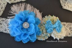 Items similar to Vintage Inspired Blue & Ivory Chiffon Flower Maternity Sash Belt - Pregnancy Photo Prop - It's A Boy - Turquoise Blue - Lace Bow on Etsy Maternity Photo Props, Maternity Sash, Chiffon Flowers, Reveal Parties, Blue Ivory, Photography Props, Pregnancy Photos, Vintage Inspired, Turquoise