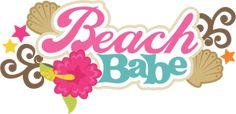 Beach Babe SVG scrapbook title beach svg cut file seashell svg files beach svg scrapbook title