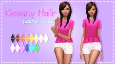 ♡ Pastel-sims ♡  Cammy Hair! ♥