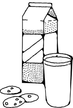 milk and cookies coloring pages