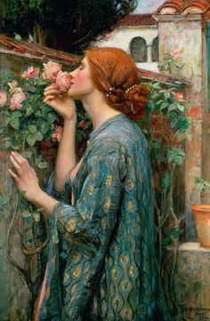 "John William Waterhouse, 1903. ""Life is a mosaic of pleasure and pain - grief is an interval between two moments of joy. Peace is the interlude between two wars. You have no rose without a thorn; the diligent picker will avoid the thorns and gather the flower. There is no bee without the sting; cleverness consists in gathering the honey nevertheless."" Sri Sathya Sai Baba"