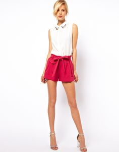 Belted Shorts with Turn Up  For Summer Parties!!  @Ashleigh Rotondo @Shannon Vossberg @Sommer Williams