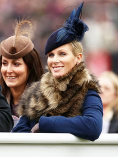 Star Tracks: Monday, March 16, 2015   ROYALLY PLEASED   Will and Harry's cousin Zara Tindall makes a bold statement with her dramatic blue fascinator at the Champion Hurdle in Cheltenham, England, on Thursday.