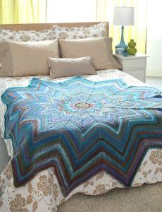 Bold Blues Throw   Yarn   Free Knitting Patterns   Crochet Patterns   Yarnspirations