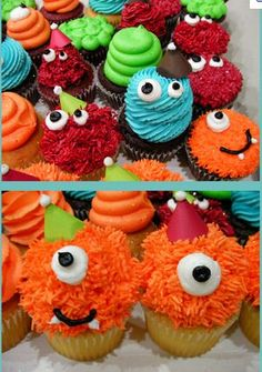 more monster cupcakes.