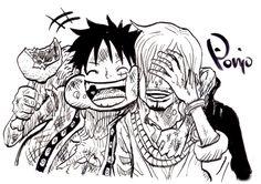 One Piece, Strawhat Pirates, Sanji, Luffy