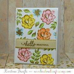 {a2z scrapbooking} Hero Arts Color Layering in Gold, Handmade Card