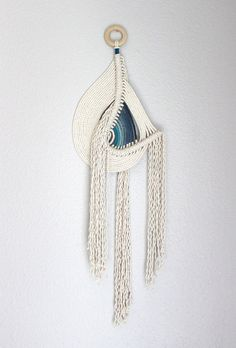 """Sale! Macrame Wall Hanging """"Pipeline no.4"""" by HIMO ART, One of a kind Handcrafted Macrame/Rope art"""