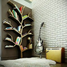 The Best DIY and Decor Place For You: Book shelf in the shape of branches