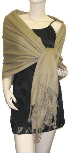 Pure Pashmina Shawl Dark Camel 3 Ply The Pashmina Store. $79.99