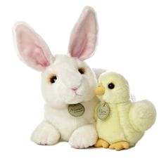 "Amazon.com: Aurora World Miyoni Rabbit and Chick Plush, 12"": Toys & Games"