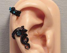 Nyx CARTILAGE EAR CUFF wire wrapped ear cuff by bodaszilvia
