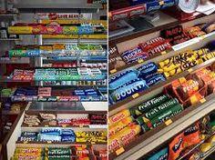 Image result for corner shop shelves