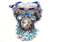 High fashion statement necklace   PREMONITION   by beadsofaquarius, $500.00