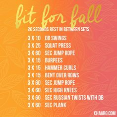 Fit For Fall - CHAARG