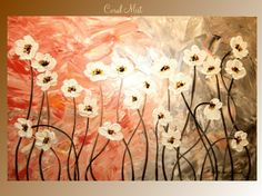 Large Acrylic Flower painting by Nicolette Vaughan by artmod, $169.99