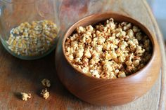 Home made sweet and spicy popcorn. Little eco footprints